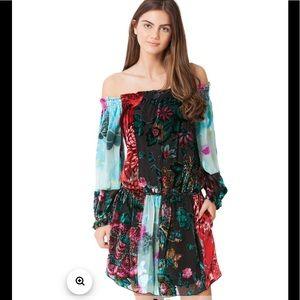 Hale Bob Yamina Silk Dress Size XS